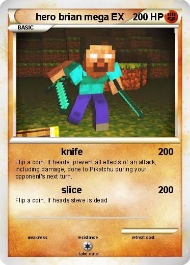 Pok 233 Mon Hero Brian Mega Ex Knife My Pokemon Card