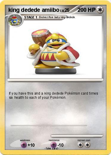 Pokemon King Dedede Amiibo My Pokemon Card