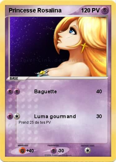 pokémon princesse rosalina baguette ma carte pokémon