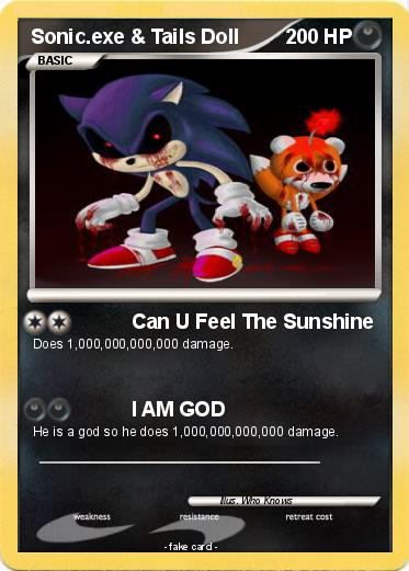 Pok 233 Mon Sonic Exe Tails Doll Can U Feel The Sunshine