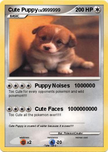 pokémon cute puppy 22 22 puppy noises 1000000 my pokemon card
