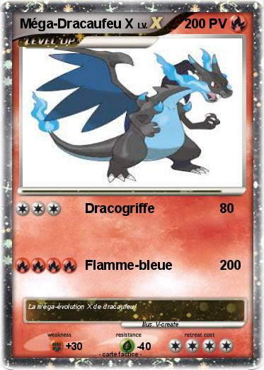 Pok mon mega dracaufeu x 24 24 dracogriffe ma carte - Mega evolution dracaufeu x ...