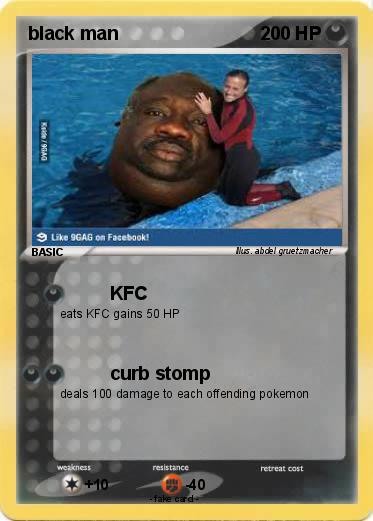 Pokémon black man 50 50 - KFC - My Pokemon Card