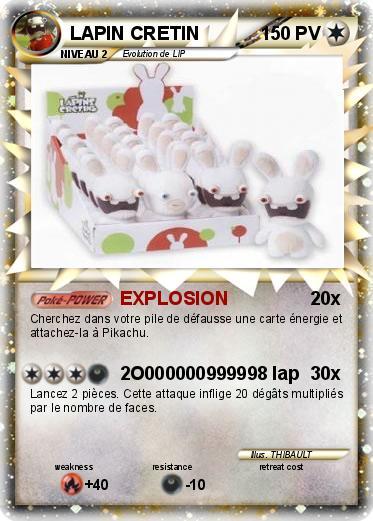 Pok mon lapin cretin 375 375 explosion ma carte pok mon - Lapin cretin a imprimer ...