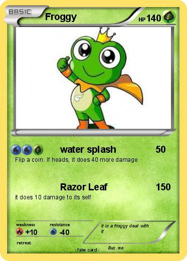pokémon froggy 99 99 water splash my pokemon card
