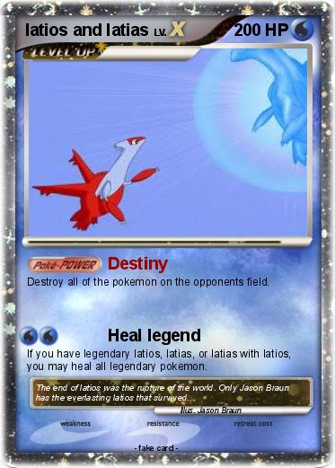 Pok mon latios and latias 32 32 Destiny My Pokemon Card