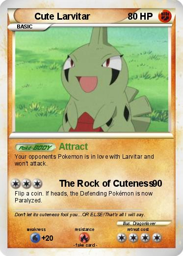 Pokémon Cute Larvitar - Attract - My Pokemon Card