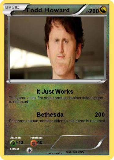 pokémon todd howard 2 2 it just works my pokemon card