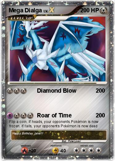 Pokémon Mega Dialga 15 15 - Diamond Blow - My Pokemon Card