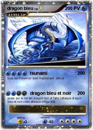 Pok mon dragon bleu 61 61 tsunami ma carte pok mon - Pierre eau pokemon noir ...