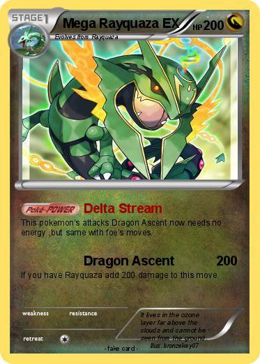 Pok 233 Mon Mega Rayquaza Ex 8 8 Delta Stream My Pokemon Card