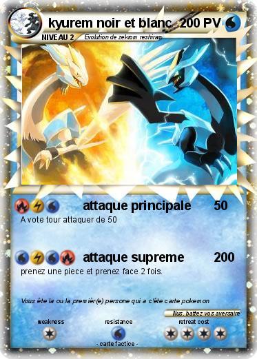 Pok mon kyurem noir et blanc 34 34 attaque principale - Pokemon legendaire blanc 2 ...