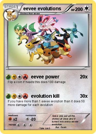 Pok 233 Mon Eevee Evolutions 57 57 Eevee Power My Pokemon Card