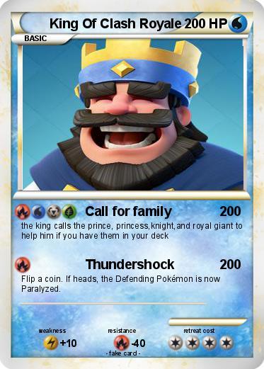 Pokémon King Of Clash Royale - Call for family - My Pokemon Card