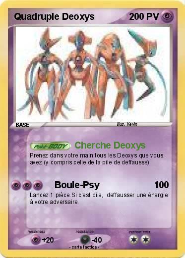 Pok mon quadruple deoxys cherche deoxys ma carte pok mon - Coloriage pokemon deoxys ...