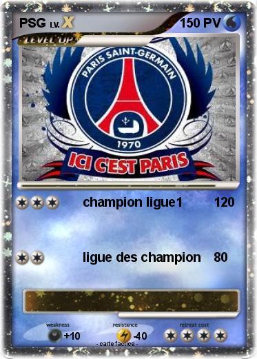 Pok mon psg 96 96 champion ligue1 ma carte pok mon - Coloriage de om ...