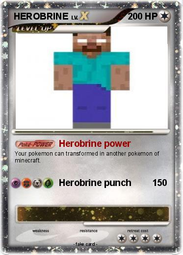 Pok mon HEROBRINE 212 212 Herobrine