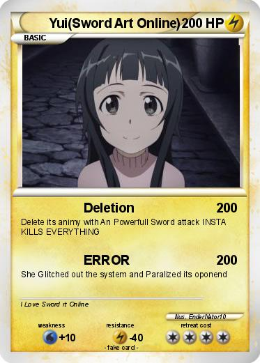 Pokmon yui sword art online deletion my pokemon card pokemon yuisword art online publicscrutiny Image collections