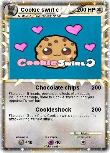 Pok mon Cookie swirl c 4 4 Chocolate