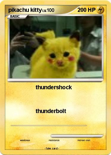 pokémon pikachu kitty 7 7 thundershock my pokemon card