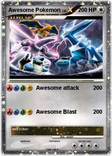 Pokémon Awesome Pokemon 3 3 - Awesome - My Pokemon Card