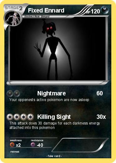 Pok 233 Mon Fixed Ennard Nightmare My Pokemon Card