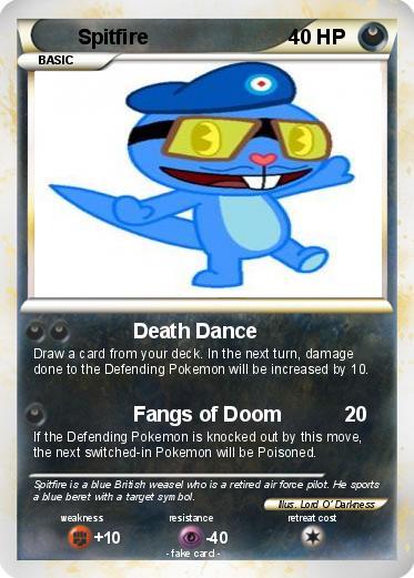 Pokémon Spitfire 32 32 - Death Dance - My Pokemon Card