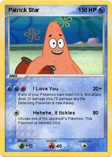 PmMYEq5Qb206 pokémon patrick star 31 31 i love you my pokemon card