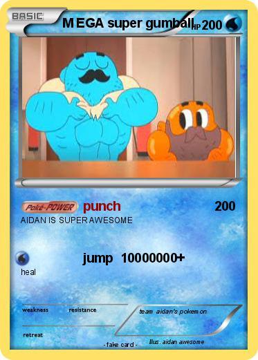 pokémon m ega super gumball punch my pokemon card