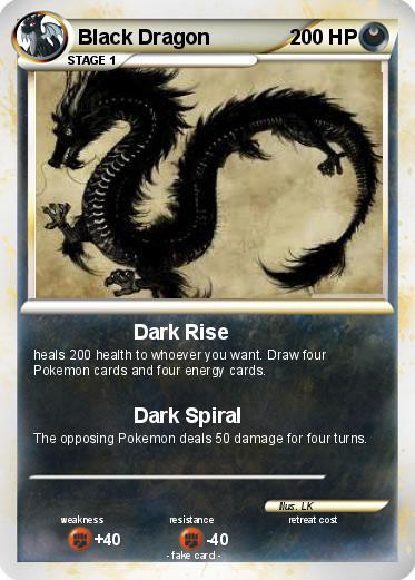 Pokémon Black Dragon 201 201 - Dark Rise - My Pokemon Card