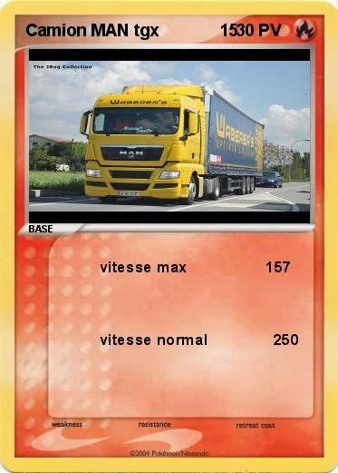 Coloriage Camion Samu.Pokemon Camion Man Tgx 15 15 Vitesse Max 157 Ma Carte Pokemon