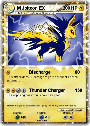Pokémon M Jolteon EX 3 3 - Discharge - My Pokemon Card
