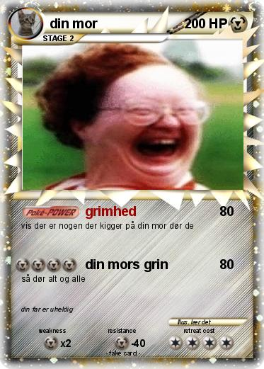 pok233mon din mor 3 3 grimhed my pokemon card