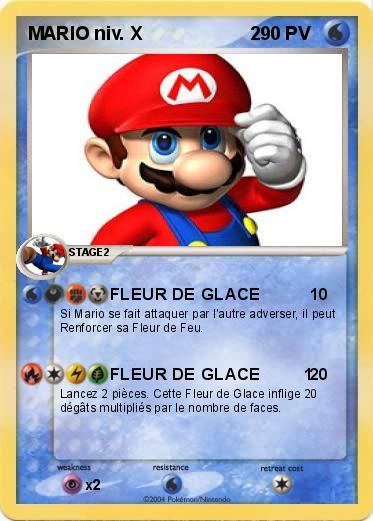 Pokemon Mario Niv X 2 2 Fleur De Glace Ma Carte Pokemon