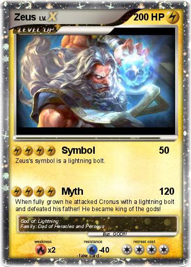 Pokmon Zeus 1225 1225 Symbol My Pokemon Card