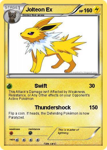 Pokémon Jolteon Ex 36 36 - Swift - My Pokemon Card