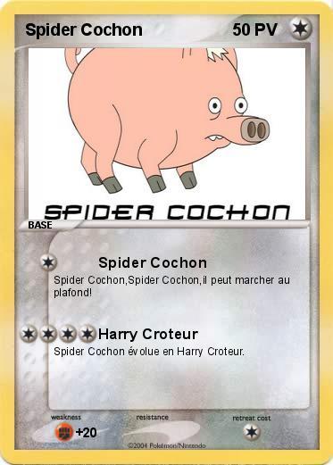Coloriage Spider Cochon.Pokemon Spider Cochon 1 1 Spider Cochon Ma Carte Pokemon