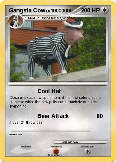 Gangsta cow