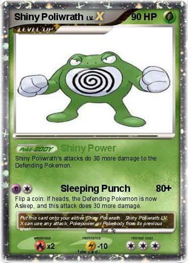 pok233mon shiny poliwrath shiny power my pokemon card