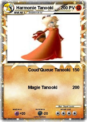 Coloriage Bebe Harmonie.Pokemon Harmonie Tanooki Coud Queue Tanooki Ma Carte Pokemon