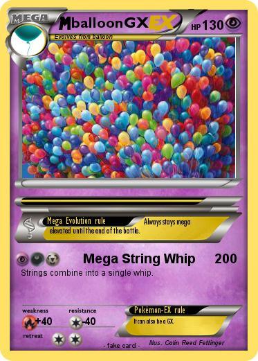 Pokemon Balloongx Mega String Whip My Pokemon Card