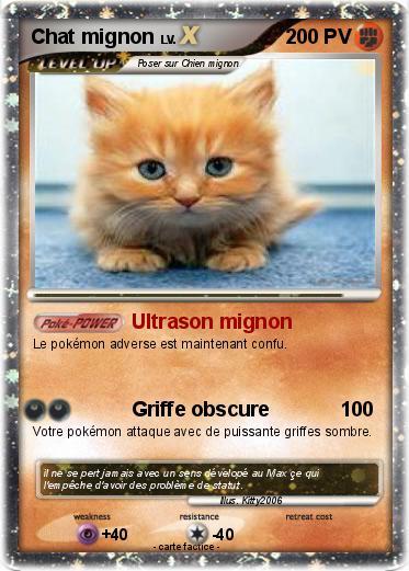 Pok mon chat mignon 54 54 ultrason mignon ma carte pok mon for Statut illustrateur