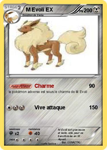 Pok mon m evoli ex 2 2 charme ma carte pok mon - Evoli blanc 2 ...