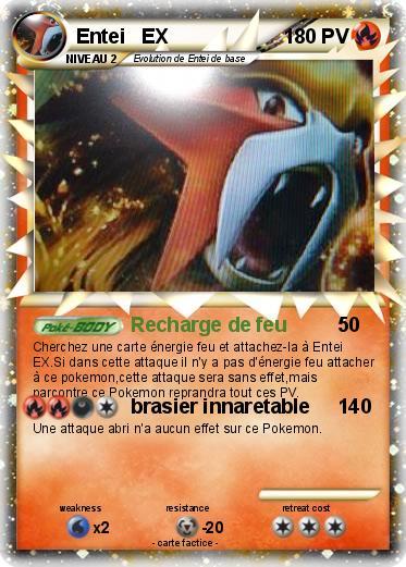pokémon entei ex 74 74 recharge de feu ma carte pokémon