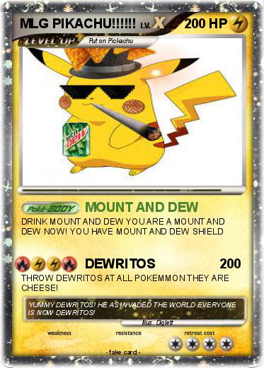 Pok�mon mlg pikachu 66 66 mount and dew my pokemon card Trippy Coloring Pages MLG Mickey Mouse Coloring Pages MGS Coloring Pages