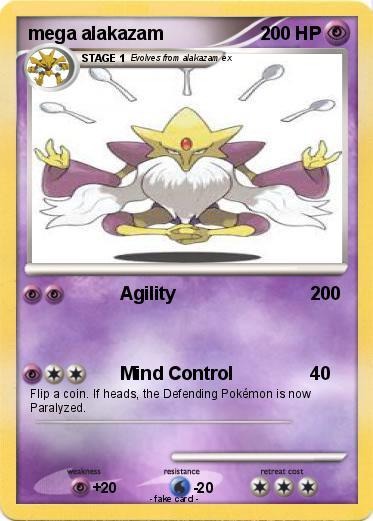 Pokémon Mega Alakazam 45 45 Agility My Pokemon Card