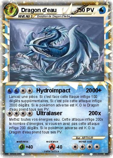 Pok mon dragon d eau 7 2 2 hydroimpact 2000 ma carte pok mon - Carte pokemon dragon ...