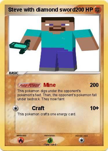 Pokemon Steve With Diamond Sword