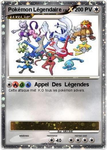 Pok mon pokemon legendaire 16 16 appel des l gendes ma carte pok mon - Pokemon legendaire diamant ...
