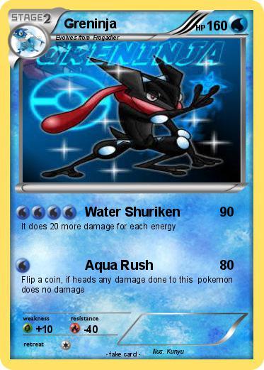 pokemon greninja card coloring pages - photo#21